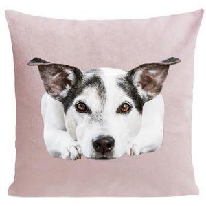 COUSSIN ARTPILO - Coussin DOGGY Coton déperlant - Rose pâl