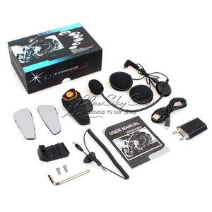 INTERCOM MOTO BT-S2 Casque de Motocyclette Oreillette Bluetooth