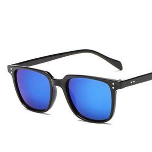 LUNETTES DE SOLEIL lunette homme carré bleu