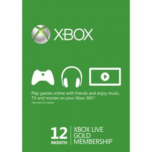 PACK PERIPHERIQUE 12 Month Xbox Live Gold Membership (Xbox One & 360