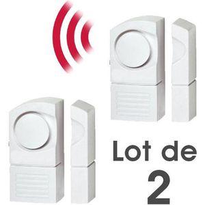 dtecteur douverture lot de 2 dtecteur alarme douverture sans fil de - Alarme Porte D Entre