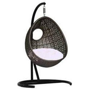 fauteuil suspendu bean swing noir coussins choc achat vente fauteuil jardin fauteuil. Black Bedroom Furniture Sets. Home Design Ideas