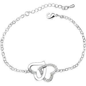 BRACELET - GOURMETTE Bracelet Coeurs entrelacés Cristal de Swarovski El