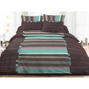 parure de lit turquoise achat vente parure de lit. Black Bedroom Furniture Sets. Home Design Ideas