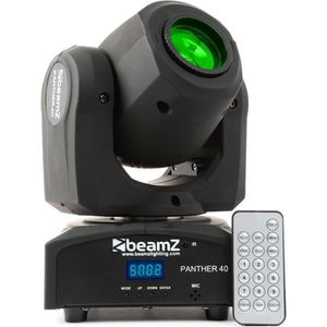 ECLAIRAGE SCANNER BeamZ Panther 40 Spot LED - Lyre Movinghead 45 W 7