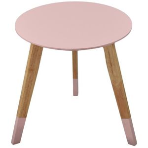 TABLE D'APPOINT TABLE RONDE SCANDINAVE - Colorama - Rose pâle