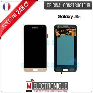 ECRAN DE TÉLÉPHONE Ecran LCD Gold Original Samsung Galaxy J3 2016 SM-
