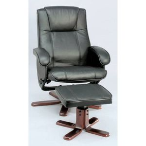 FAUTEUIL Fauteuil Relax Pivotant Inclinable & Pouf Finition