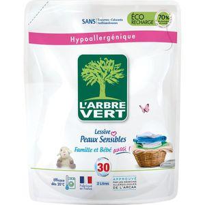 LESSIVE L'Arbre Vert Lessive Liquide Recharge pour Peau Se