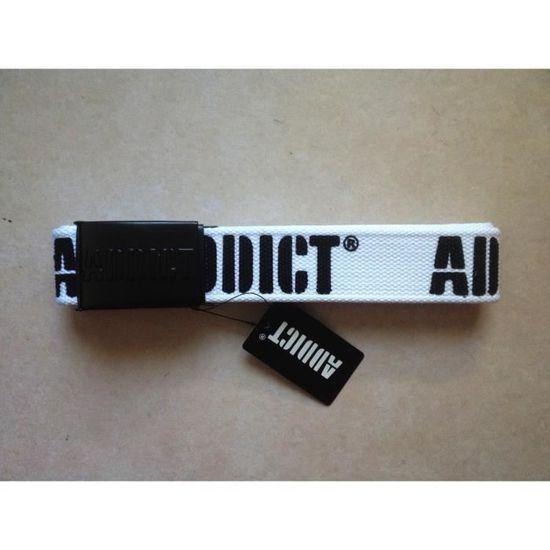 Ceinture Addict homme en tissu, blanche et noire , neuve emballée avec  étiquette. 63f692c157e