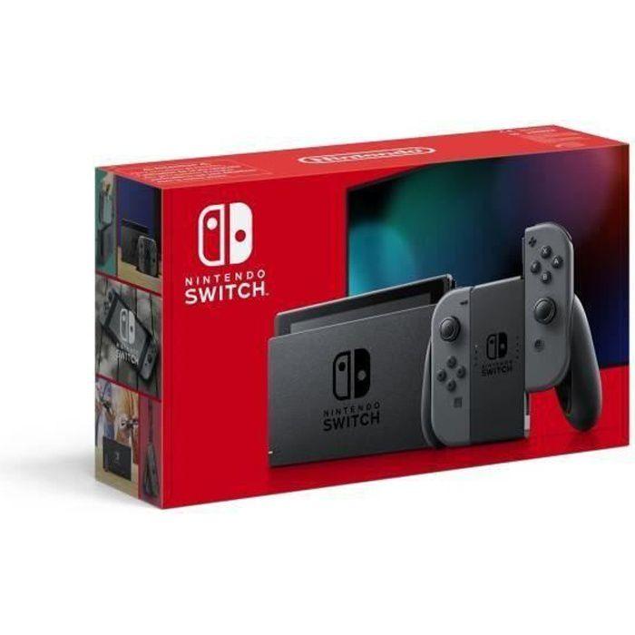 Console nintendo switch avec une paire de joy con grises nouvelle version meilleure autonomie
