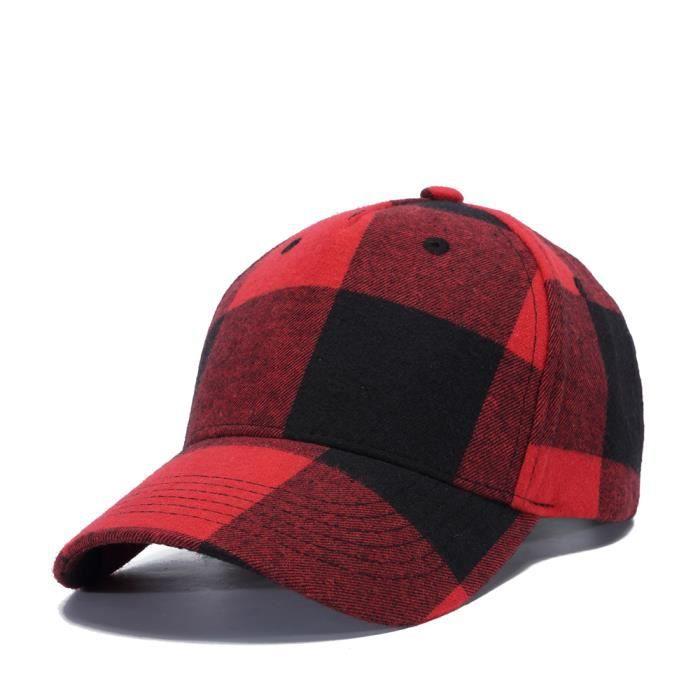45d26580 pas de logo, une casquette de baseball rouge écossais coton polo chapeau de  femme fille occasionnel