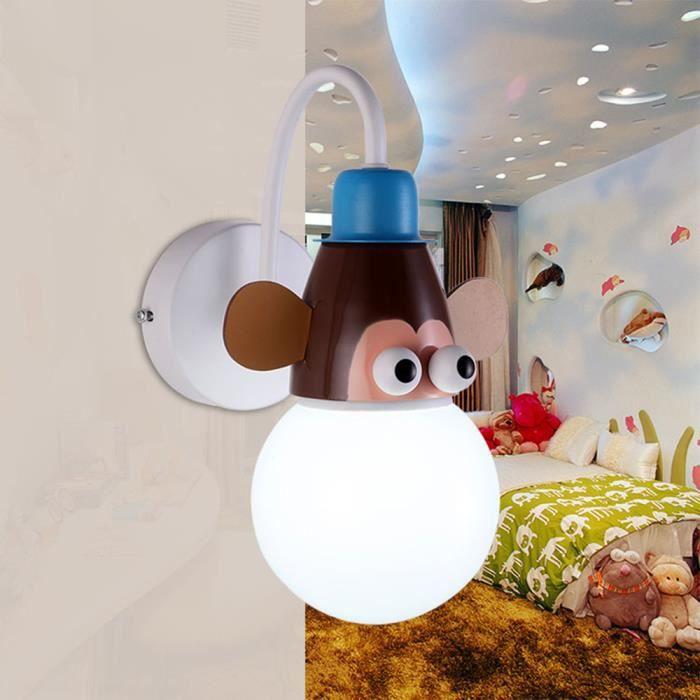 Murale De Chambre Cartoon Animal Lampe Bébé Avec Applique D'enfant bfgY76yv