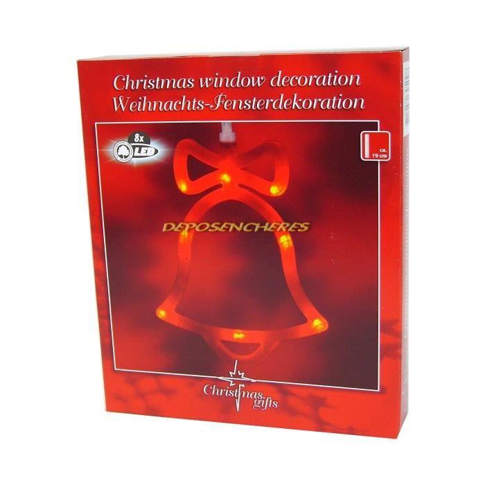 Decoration De Noel Lumineuse Cloche Pour Fenetre 8 Led Achat