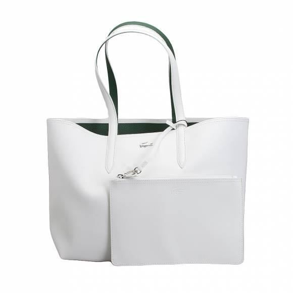 c7db782caf Lacoste - Sac cabas réversible - SHOPPING BAG | Collection ANNA NF2142AA -  Couleur:Blanc Taille:TU