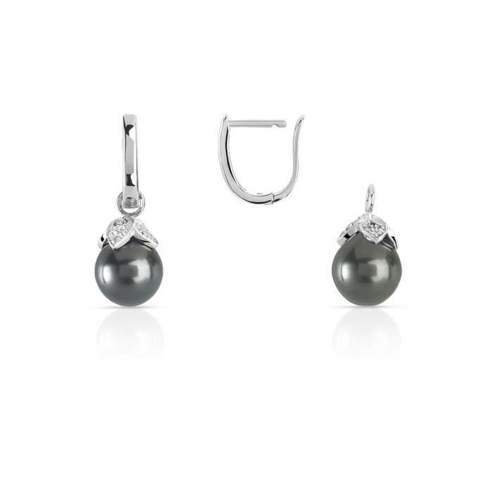 Boucle d'oreille MATY Boucles d'oreilles argent 925 perle de tahiti