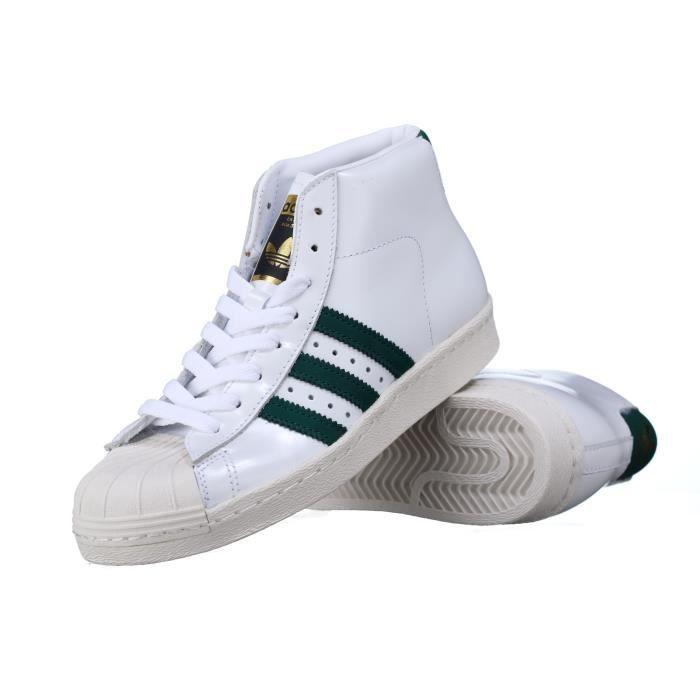 Basket Adidas Pro Model 80s Bb2248 Blanc-Vert