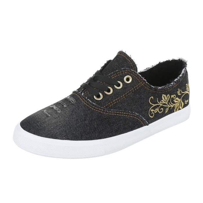 Femme chaussures loisirs chaussures lacer Sneakers bleu gris 41 v9RAUjZ