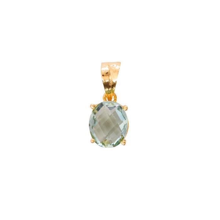 Femmes Eklavya cubique plaqué or diamant Zircon américain Pendentif Set pour etLCC97