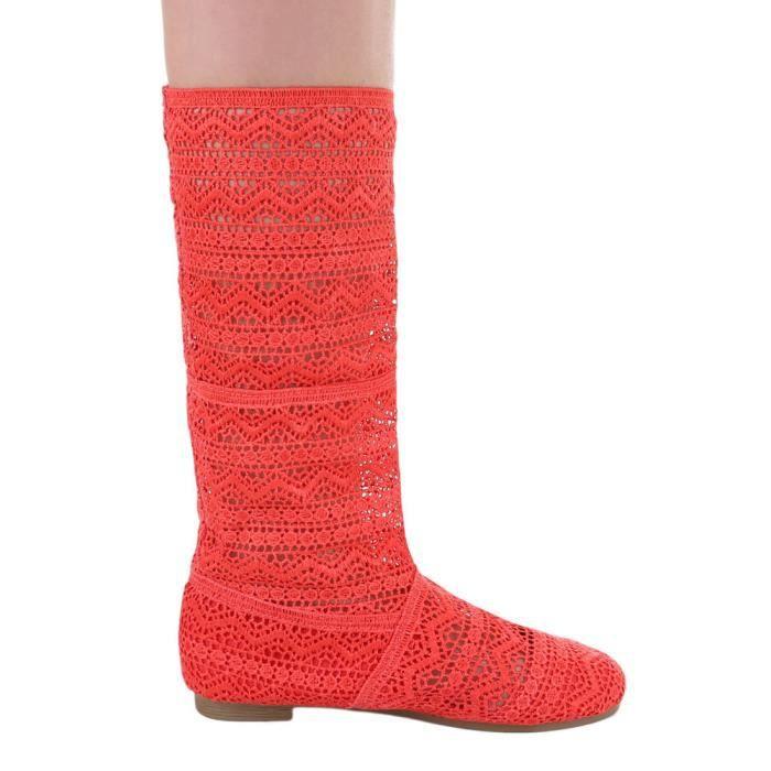 Femme chaussures escarpin dentelle été Bottes Coral 40