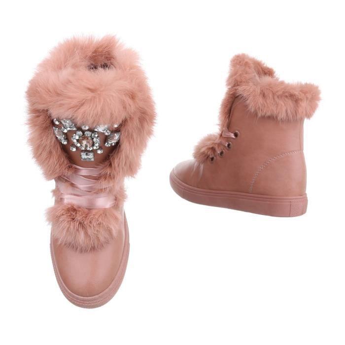 femmes hiver bottillon | hiver bottes doublé | épais doublée Bottes de neige | Art fourrure hiver Boots | bottes hautes| Sneaker