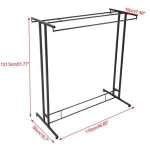 portant vetement telescopique achat vente pas cher. Black Bedroom Furniture Sets. Home Design Ideas