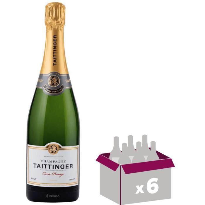Champagne taittinger champagne brut réserve 75cl x 6