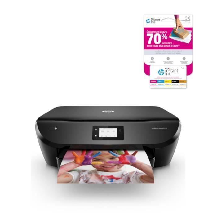 HP Envy Photo 6230 + carte Instant Ink crédit de 5€ sur votre compte