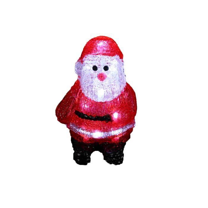 Personnage de Noël Père Noël lumineux à piles H17 cm