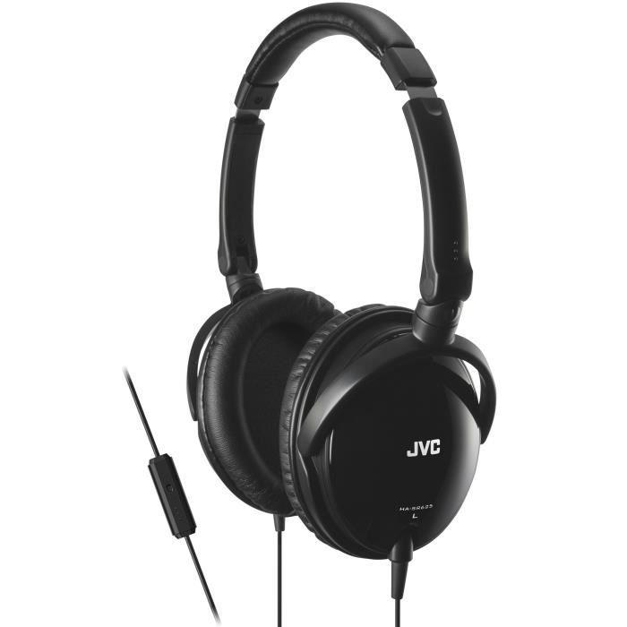 JVC HA-SR625 Casque circum-aural avec télécommande Noir