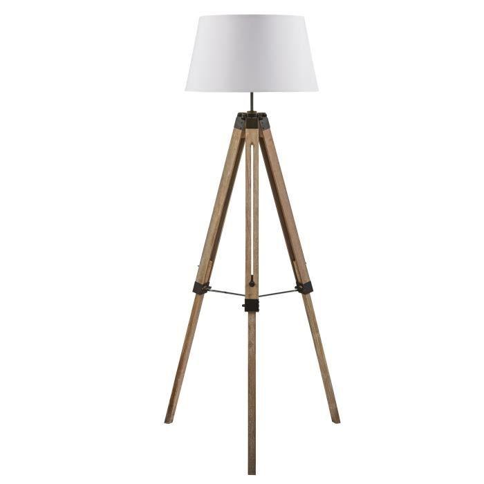 NATURE Trépied de lampadaire en bois naturel - Ø65 x H.144 cm