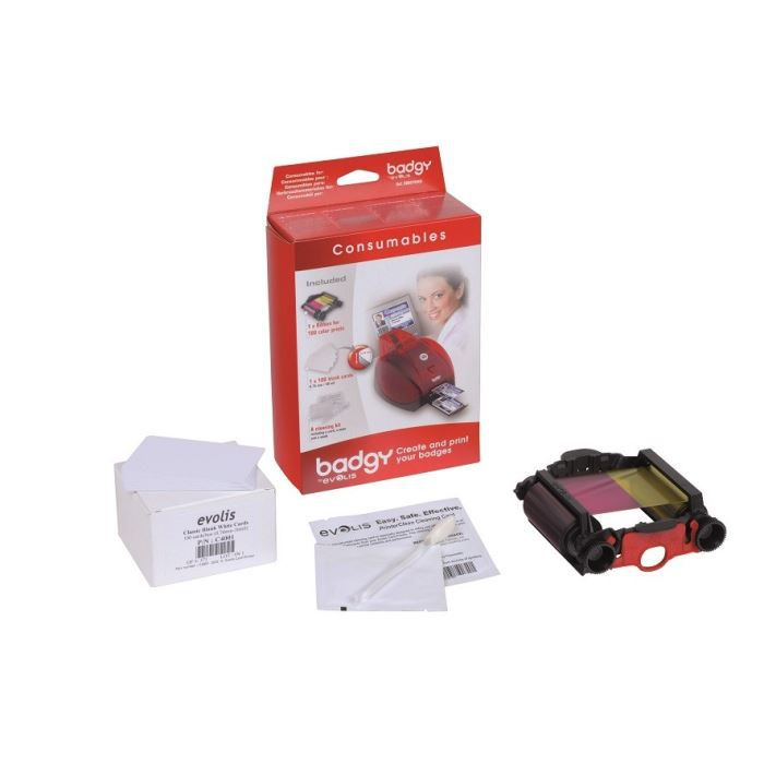 Pack complet consommables Badgy + cartes (0,76 mm)