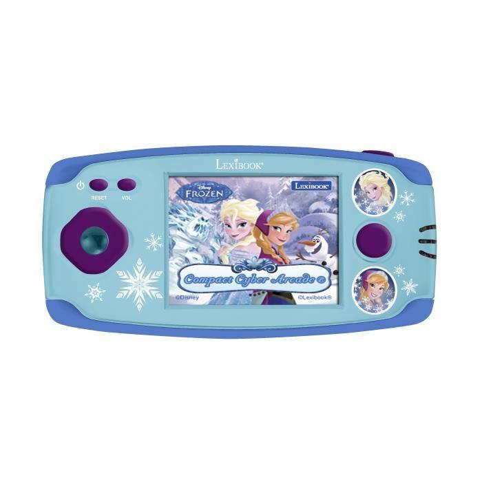 LEXIBOOK -LA REINE DES NEIGES - Console de Jeu Enfant avec 150 Jeux, Fille, à partir de 5 ans.