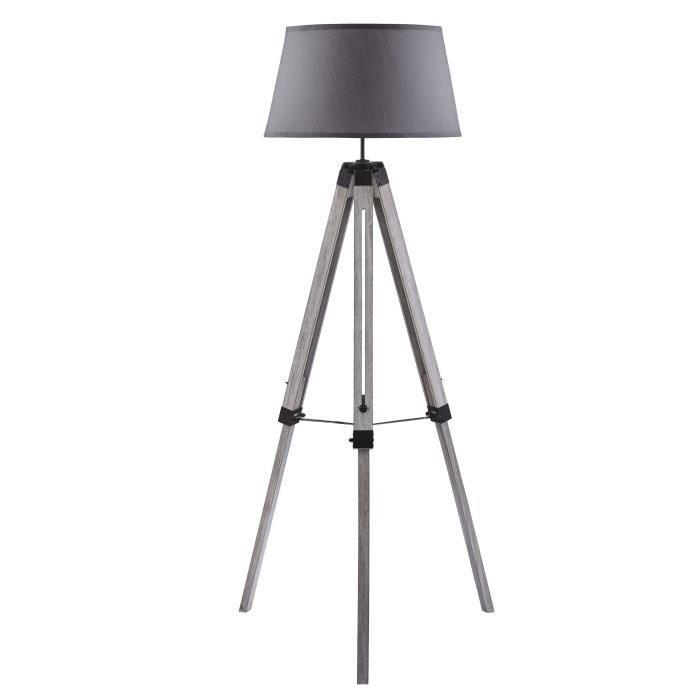 NATURE Trépied de lampadaire en bois gris - Ø65 x H.144 cm