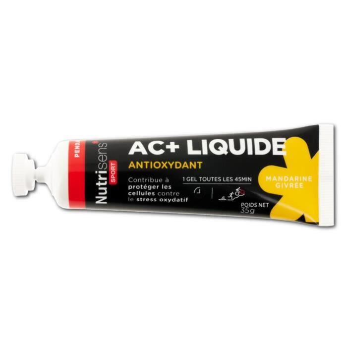 NUTRISENS Complément alimentaire - Tube de 35g de gel énergétique liquide antioxydant AC+ - Mandarine givrée