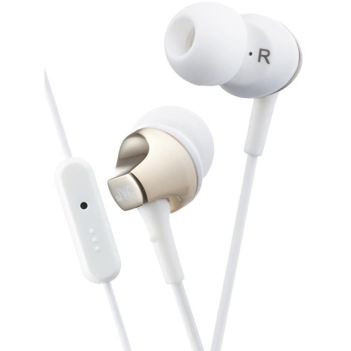 JVC HA-FR325 Ecouteurs intra-auriculaires avec télécommande et micro Doré