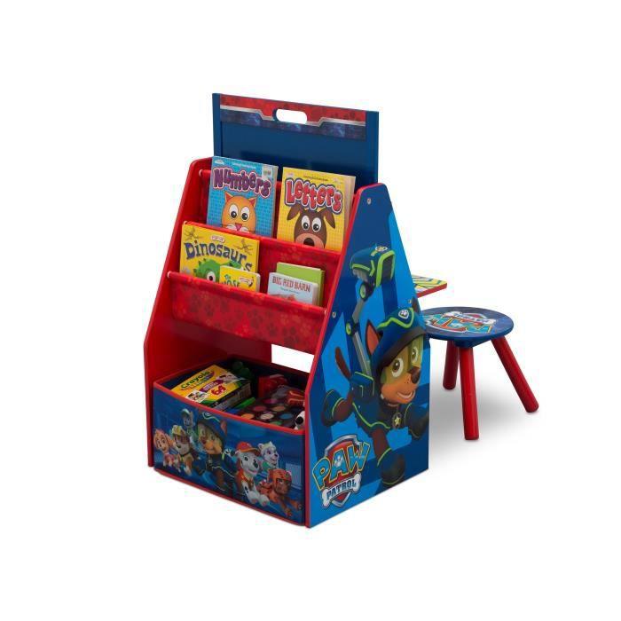 PAT PATROUILLE - Centre d'Activités 4 en 1 Enfant - Bleu et Rouge + tabouret