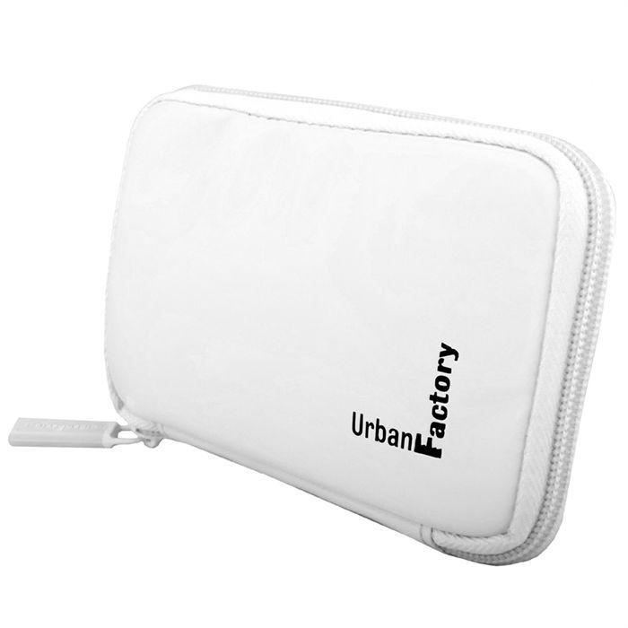URBAN FACTORY Étui protecteur pour HDD portable -Vinyl Hard Disk Sleeve - Blanc