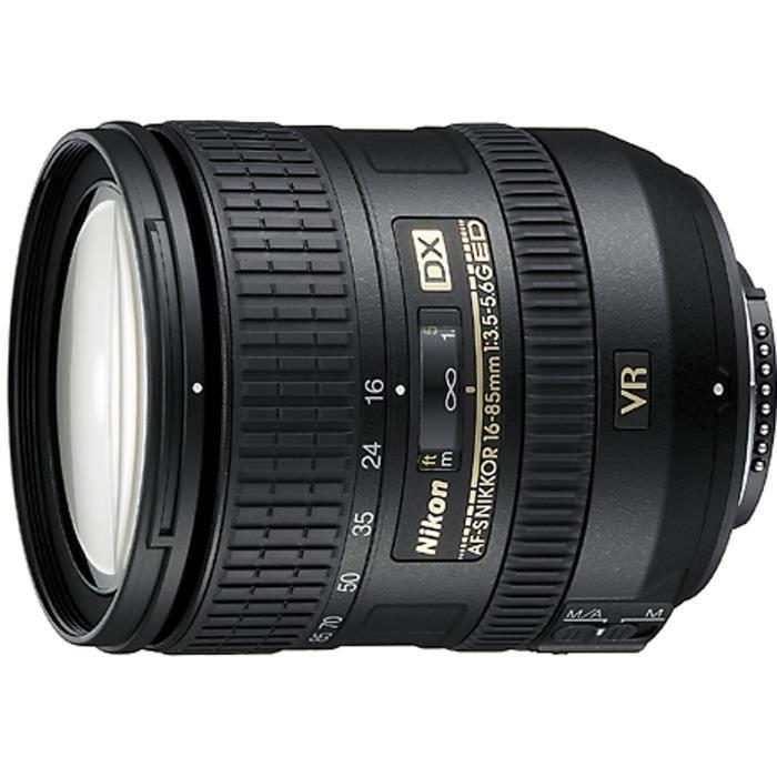 NIKON AF-S DX NIKKOR 16-85mm f/3,5-5,6G ED VR Objectif pour appareil photo numérique Reflex