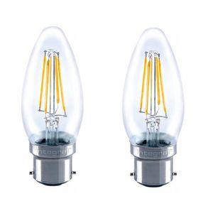 INTEGRAL LED Lot de 2 ampoules flamme B22 filament 4 W équivalent ? 36 W 2700 K 420 lm