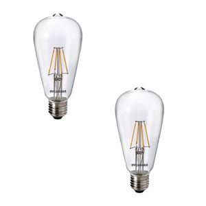 SYLVANIA Lot de 2 ampoules LED ? filament Toledo RT ST64 E27 4 W équivalent ? 40 W