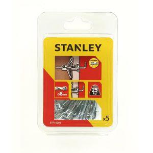 STANLEY Lot de 5 chevilles en métal ? expansion ? 4x33mm avec gond STF14205-XJ