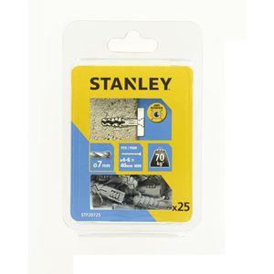 STANLEY Kit de 25 chevilles en nylon ? 7x30 mm sans vis STF20725-XJ