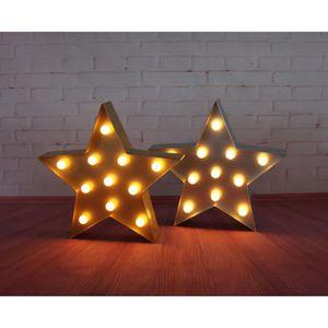 OBJETS LUMINEUX DÉCO  Étoile lumineuse LED 0,06 W 34x5 cm blanc