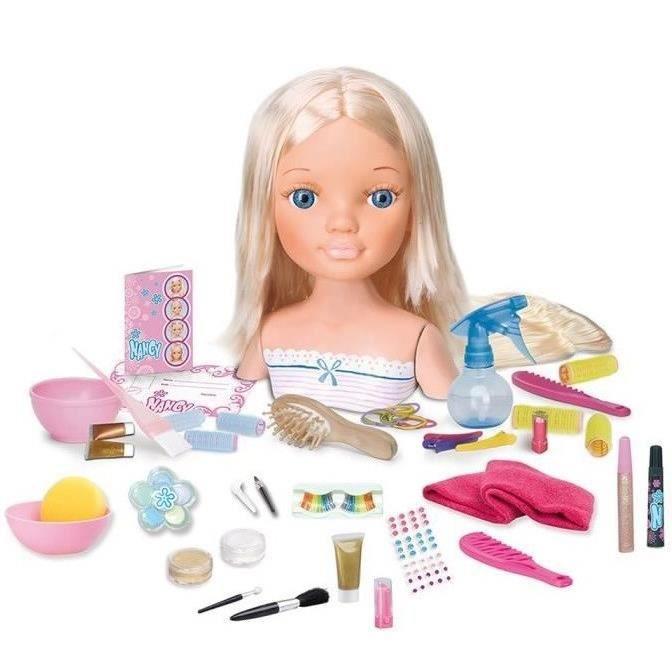 nancy t te coiffer blonde avec accessoires 30 cm. Black Bedroom Furniture Sets. Home Design Ideas