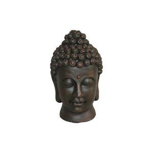 tete bouddha exterieur achat vente tete bouddha exterieur pas cher cdiscount. Black Bedroom Furniture Sets. Home Design Ideas