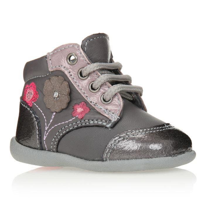 PATATRAS Bottillons Chaussures Bébé Fille Gris - Achat   Vente ... 49441adfca4d