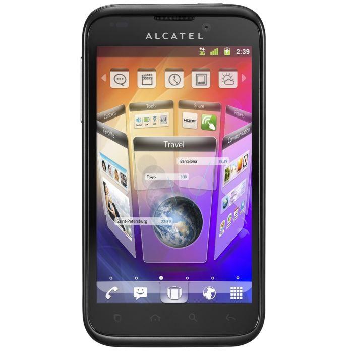 alcatel onetouch 995 noir achat smartphone pas cher avis et meilleur prix cdiscount. Black Bedroom Furniture Sets. Home Design Ideas