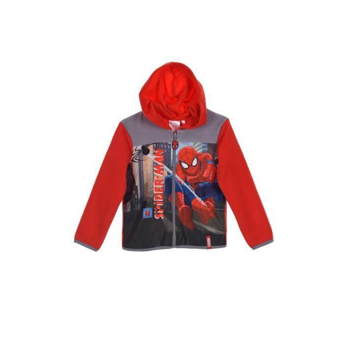 Spiderman Polaire Veste Achat Enfant Vente Rouge Garçon nn1xRwH