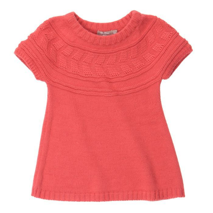 ROBE BÉBÉ RÊVE Robe en tricot Saumon bébé Fille